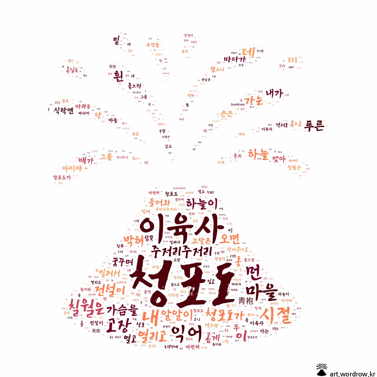 워드 아트: 청포도 [이육사]-74